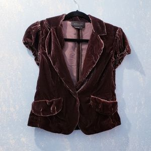 BCBG Maxazria Brown Velvet Blazer SizeS
